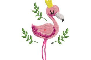 Flamingo Baby Animals Embroidery Design By carasembor