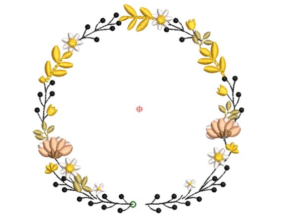 Flower Crown Wedding Flowers Embroidery Design By carasembor