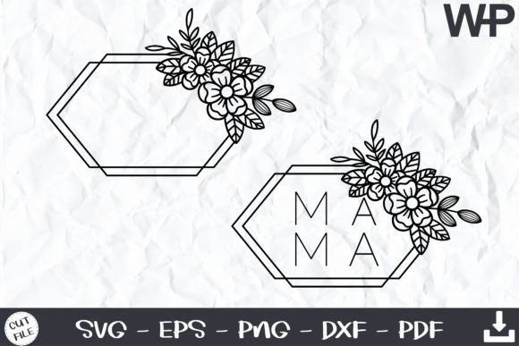 Flower SVG Files Graphic Print Templates By wanchana365