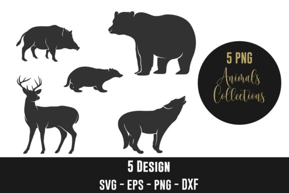 Forest Animal Silhouettes Clip Art Graphic Crafts By creation