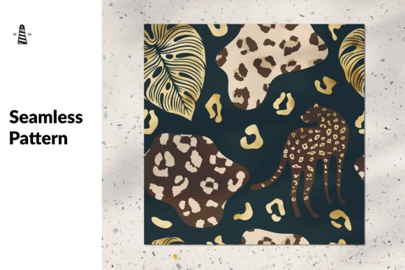 Print on Demand: Gold Cheetah Seamless Pattern Graphic Patterns By northseastudio