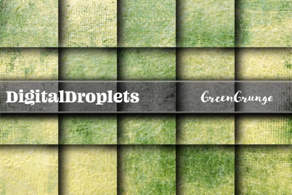 Green Grunge Graphic Backgrounds By digitaldroplets
