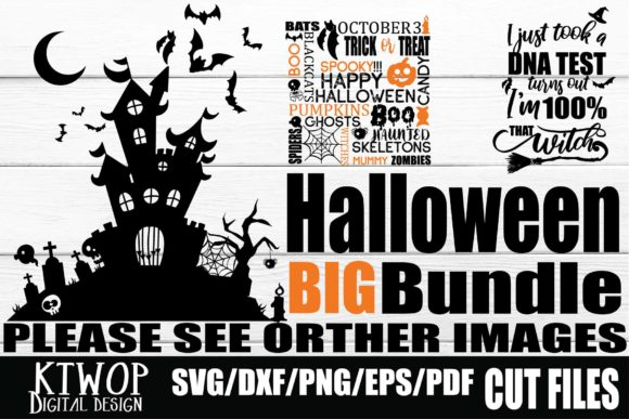Print on Demand: Halloween Bundle Graphic Crafts By KtwoP