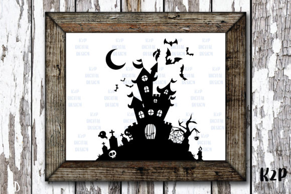 Print on Demand: Halloween Castle Silhouette Graphic Crafts By KtwoP