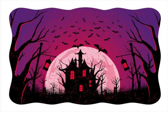 Print on Demand: Halloween Scary Night Graphic Illustrations By edywiyonopp
