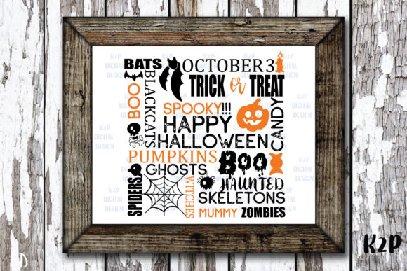 Print on Demand: Halloween Typography Graphic Crafts By KtwoP
