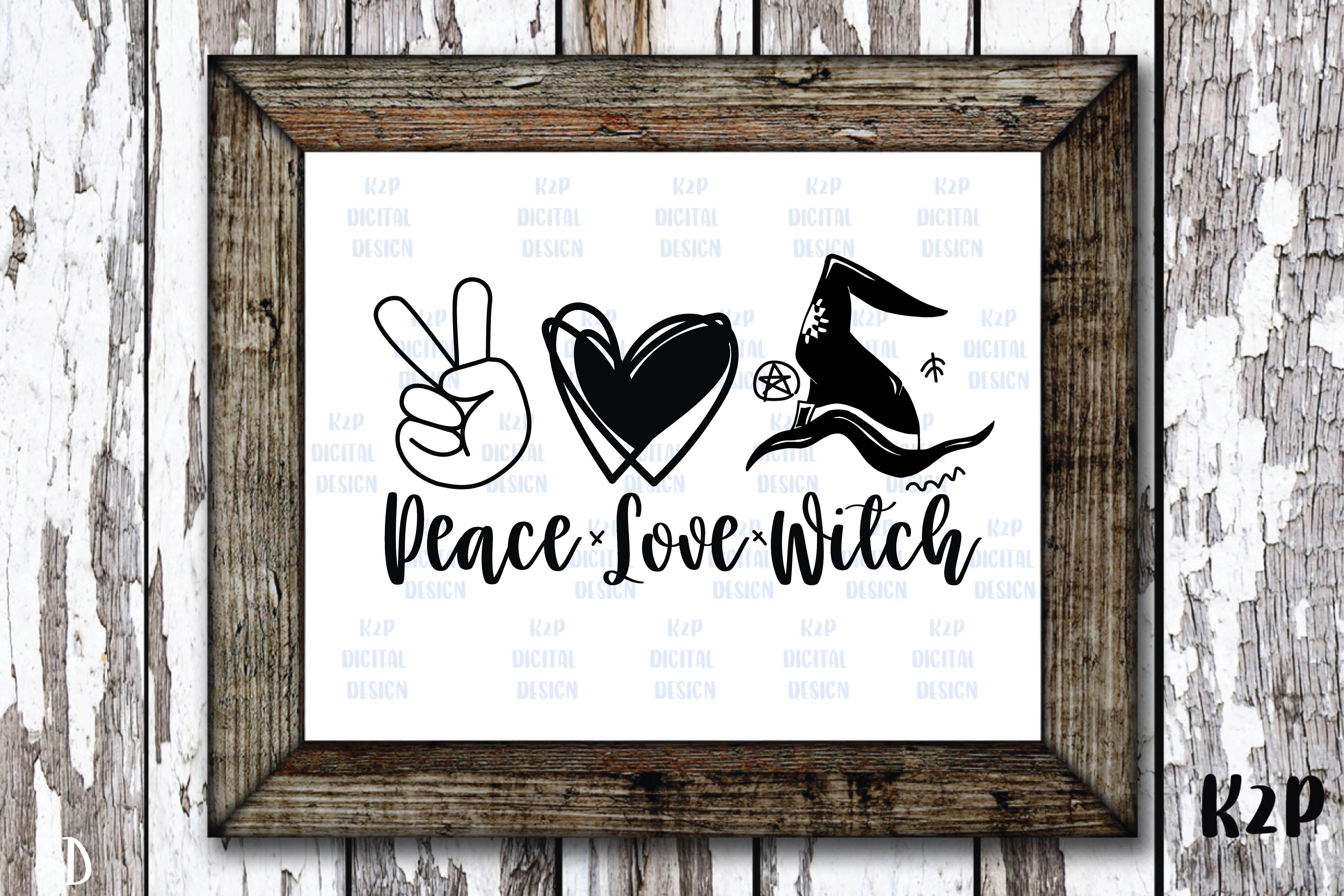 Halloween Witchy Peace Love Witch Hat SVG File