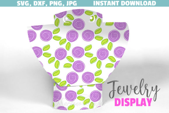 Jewelry Display SVG File Purple Floral Graphic Crafts By paperart.bymc