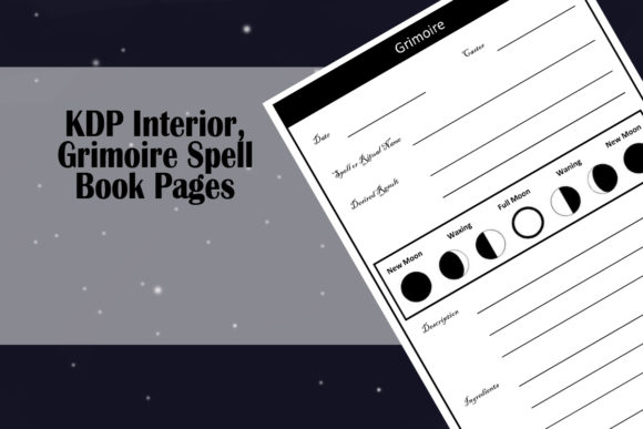 Print on Demand: KDP Interior, Grimoire Spell Book Graphic KDP Interiors By Designs_by_Shorty