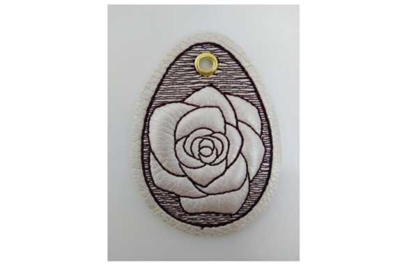 Key Fob Rose - in the Hoop Embroidery Download