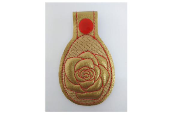 Key Fob Rose - in the Hoop Embroidery Item