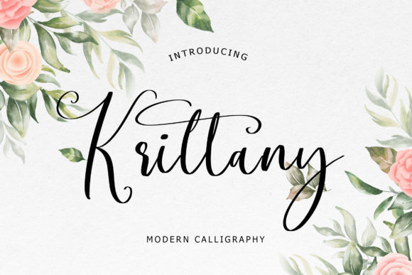 Print on Demand: Krittany Script & Handwritten Font By formatikastd