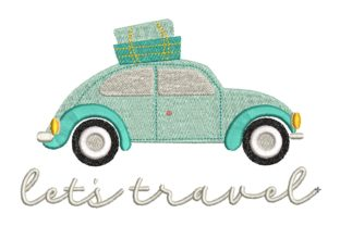 Let's Travel Travel & Season Embroidery Design By carasembor