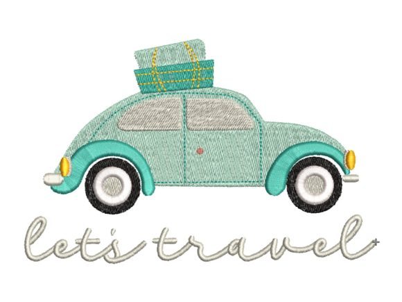 Let's Travel Embroidery