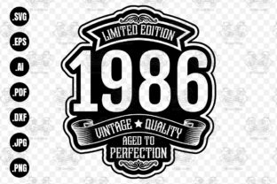 Print on Demand: Limited Edition 1986 Aged to Perfection Graphic Crafts By CraftsCreateShop