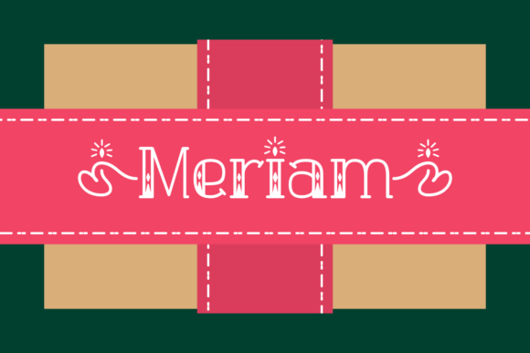 Print on Demand: Meriam Display Font By Jasm (7NTypes)