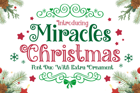 Print on Demand: Miracles Christmas Display Schriftarten von Dreamink (7ntypes)