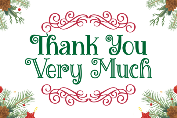 Miracles Christmas Font Preview