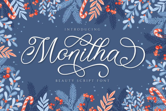 Print on Demand: Monitha Script & Handwritten Font By ToniStudio