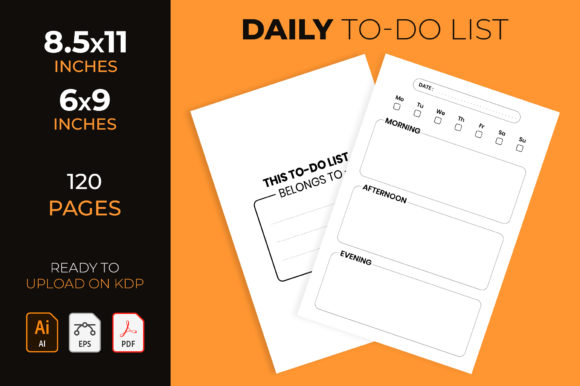 My Daily to-Do List - Kdp Interior Graphic KDP Interiors By medelwardi
