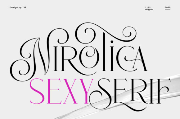 Print on Demand: Nirotica Serif Font By TRF