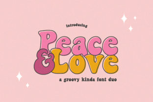 Print on Demand: Peace and Love Display Fuente Por Salt & Pepper Designs
