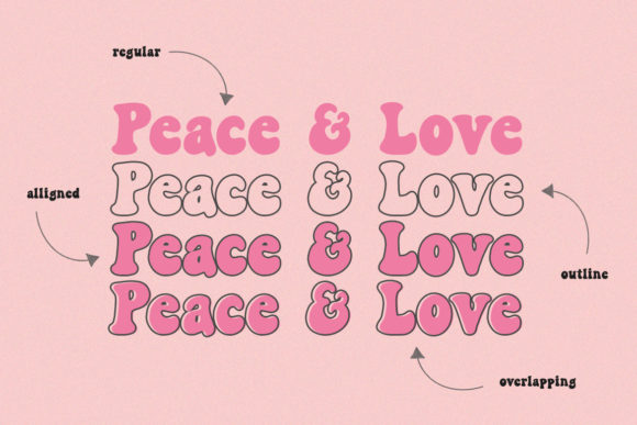 Peace and Love Font Design