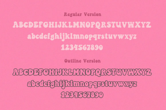 Peace and Love Font Image