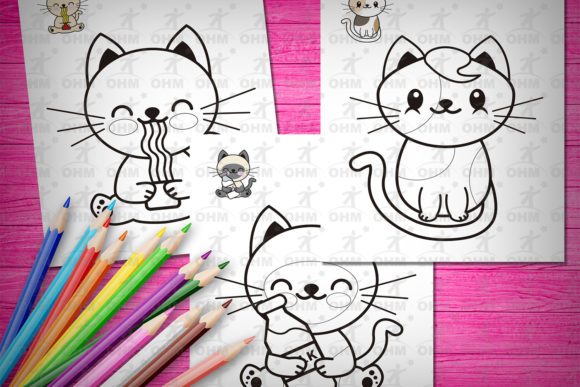 Printable Kitties Coloring Pages for Kid Graphic Coloring Pages & Books Kids By Oscar Mattey