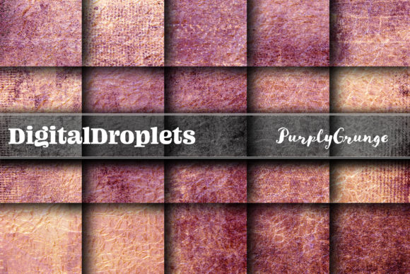 Purply Grunge Graphic Backgrounds By digitaldroplets