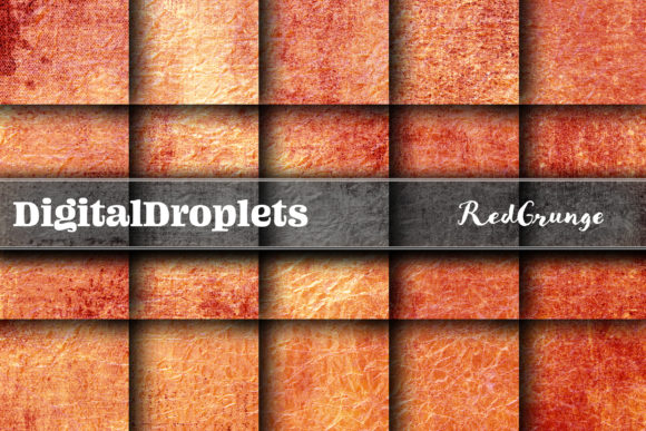 Red Grunge Graphic Backgrounds By digitaldroplets