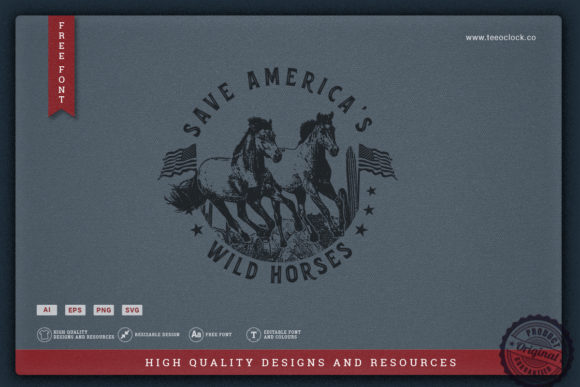 Save America's Wild Horses Graphic Illustrations By teeoclock.co