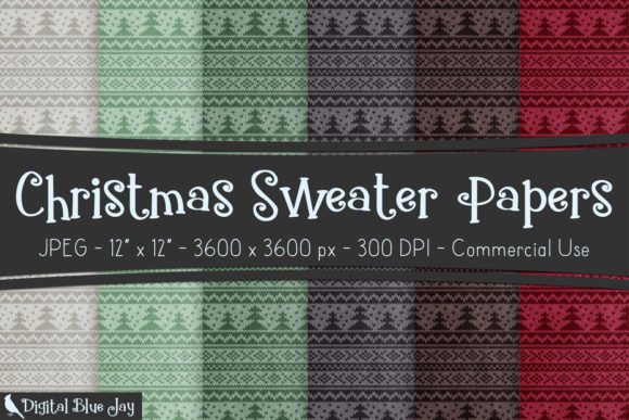 Textured Paper - Christmas Sweater Graphic Backgrounds By digitalbluejay