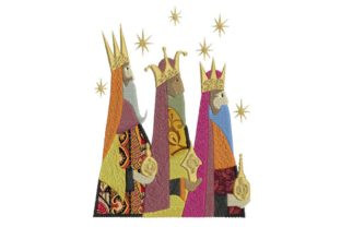 Three Wise Kings Applique Christmas Embroidery Design By BabyNucci Embroidery Designs