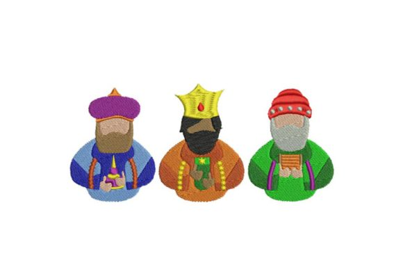 Three Wise Kings Busts Christmas Embroidery Design By BabyNucci Embroidery Designs