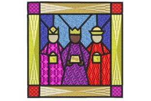 Three Wise Kings Framed Christmas Embroidery Design By BabyNucci Embroidery Designs