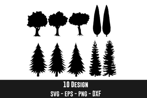 Trees Silhouettes Bundles Graphic Crafts By zhyecarther
