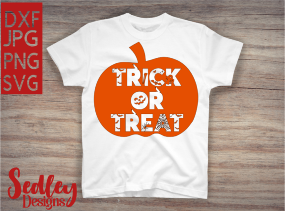 Trick of Treat Pumpkin Graphic Crafts By Sedley Designs
