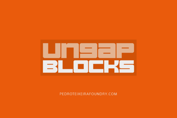 Print on Demand: Ungap Blocks Display Font By Pedro Alexandre Teixeira
