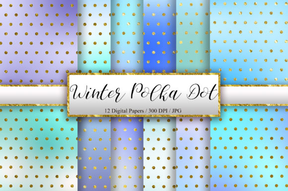 Winter Polka Dot Glitter Background Graphic Backgrounds By PinkPearly