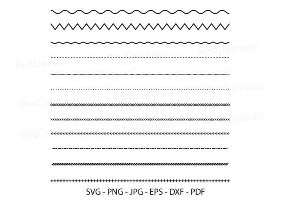 Dot and Line Pattern Svg, Line Border Graphic Crafts By RedCreations