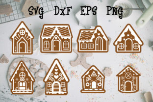 Print on Demand: Gingerbread House File Cut Graphic Print Templates By dadan_pm
