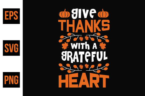 Print on Demand: Thanksgiving Typographic Quotes Design Graphic Print Templates By ajgortee