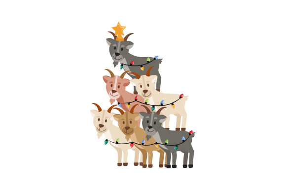 Christmas Goats Christmas Craft Cut File By Creative Fabrica Crafts