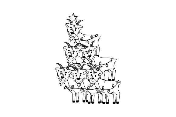 Christmas Goats Cut File Download
