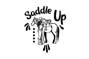Saddle Up Cowgirl Craft Cut File By Creative Fabrica Crafts