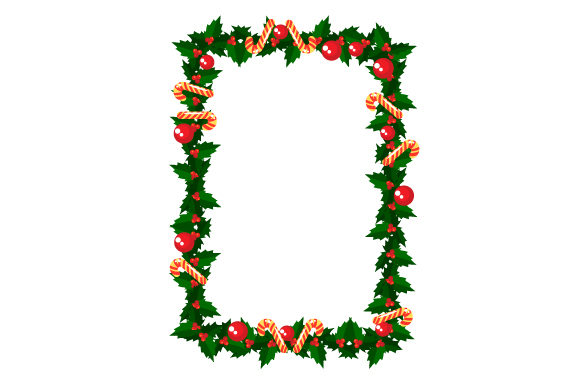 Christmas Holly Border Christmas Craft Cut File By Creative Fabrica Crafts