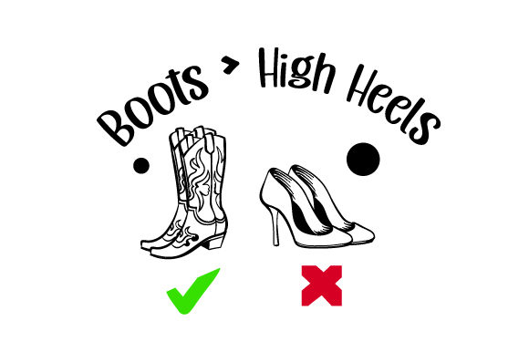 Boots   High Heels Cowgirl Craft Cut File By Creative Fabrica Crafts