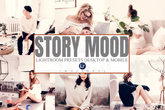 Print on Demand: 5 Story Mood Mobile an Desktop Lightroom Graphic Actions & Presets By 3Motional
