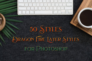 Print on Demand: 50 Dragon Fire Photoshop Layer Styles Graphic Layer Styles By SapphireXDesigns